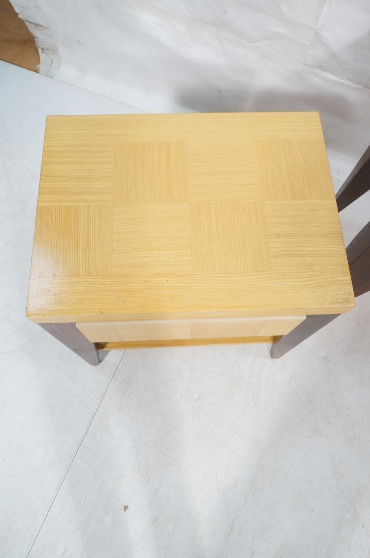 3pc LANE Modernist Tables.  Pr Side End Tables & - 3