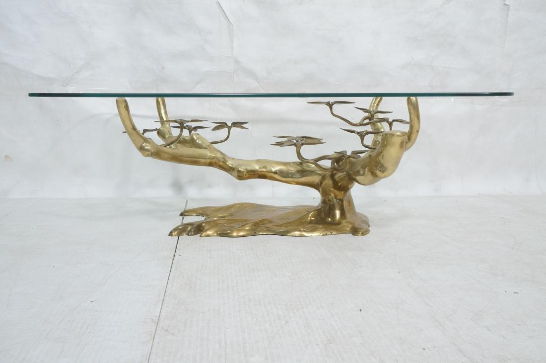 WILLY DARO Brass Glass Bonsai Cocktail Table. Mod - 2