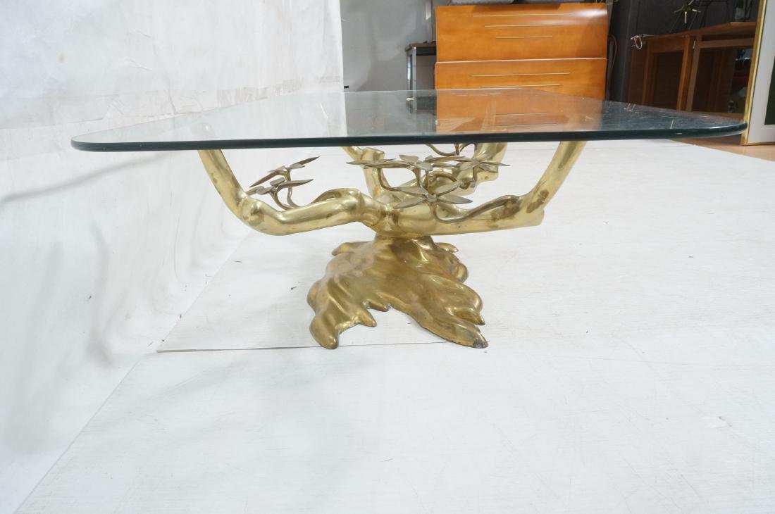 WILLY DARO Brass Glass Bonsai Cocktail Table. Mod - 3