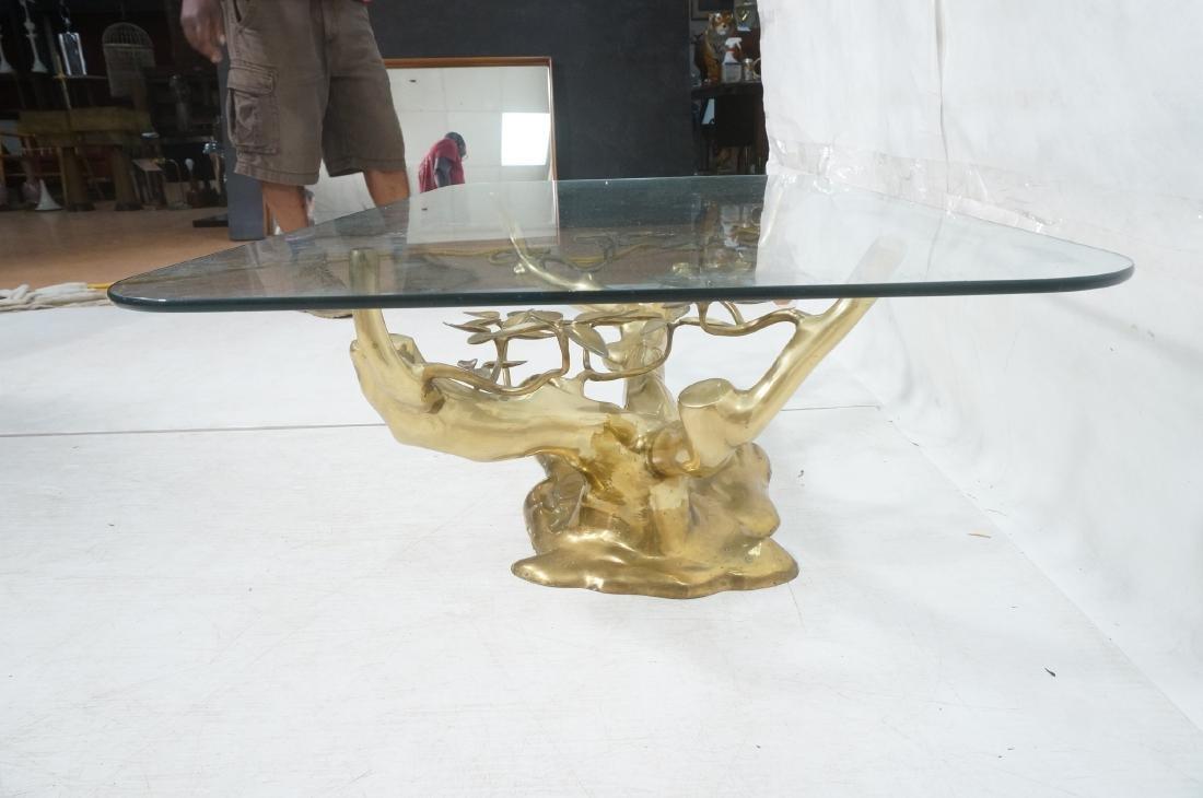 WILLY DARO Brass Glass Bonsai Cocktail Table. Mod - 4