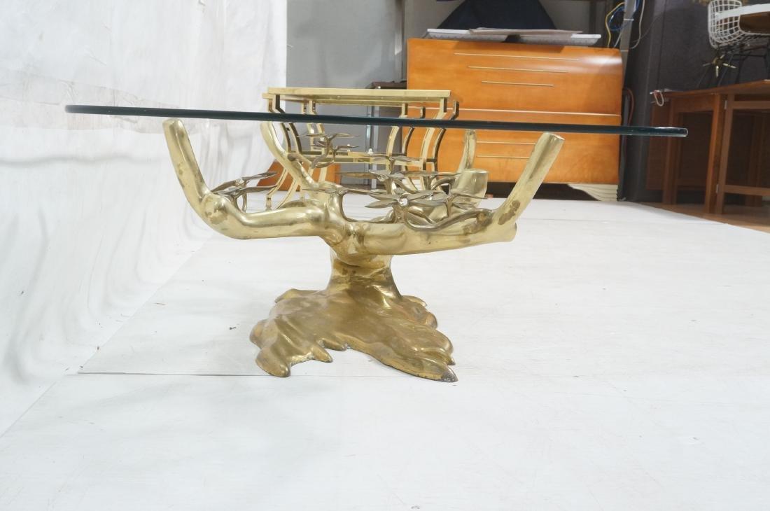 WILLY DARO Brass Glass Bonsai Cocktail Table. Mod - 6