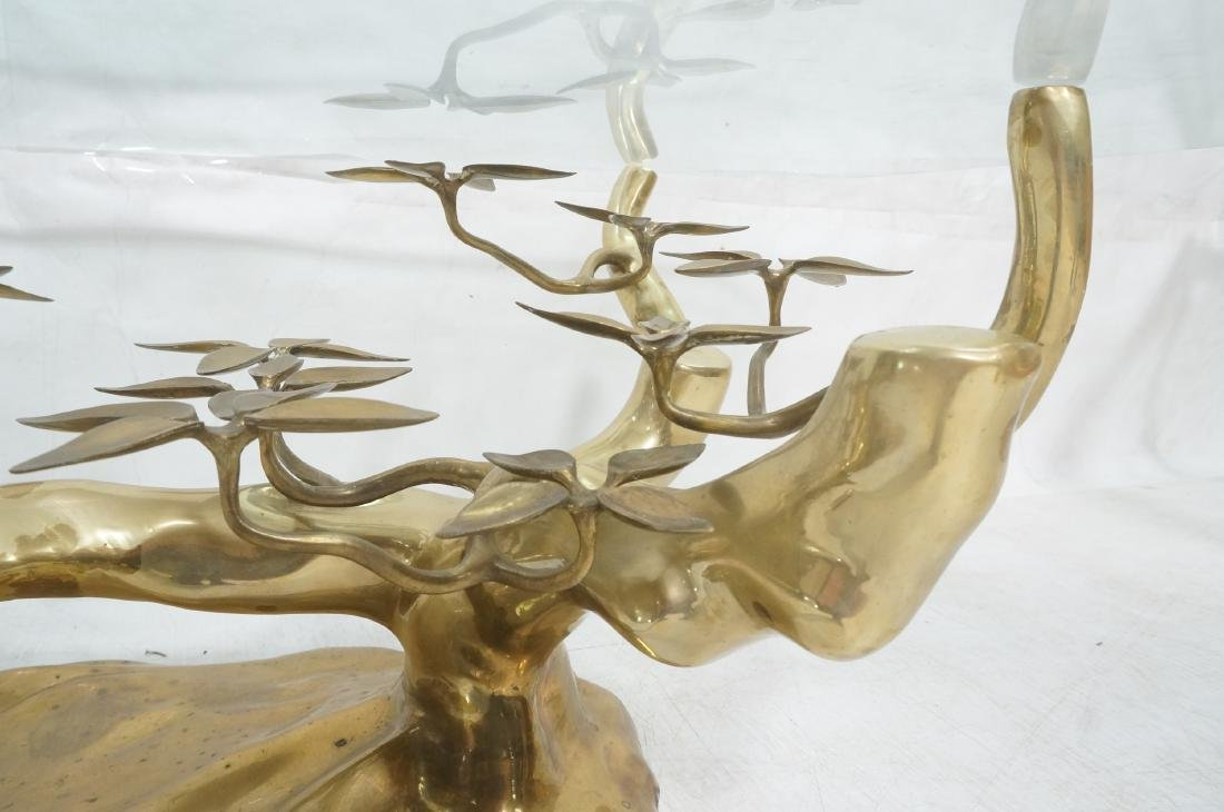 WILLY DARO Brass Glass Bonsai Cocktail Table. Mod - 8