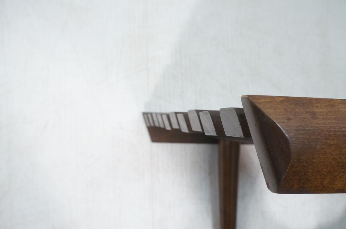 Modernist Wood Slat Bench Table. Tapered peg legs - 10