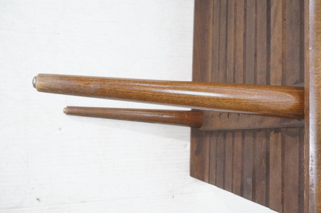 Modernist Wood Slat Bench Table. Tapered peg legs - 9