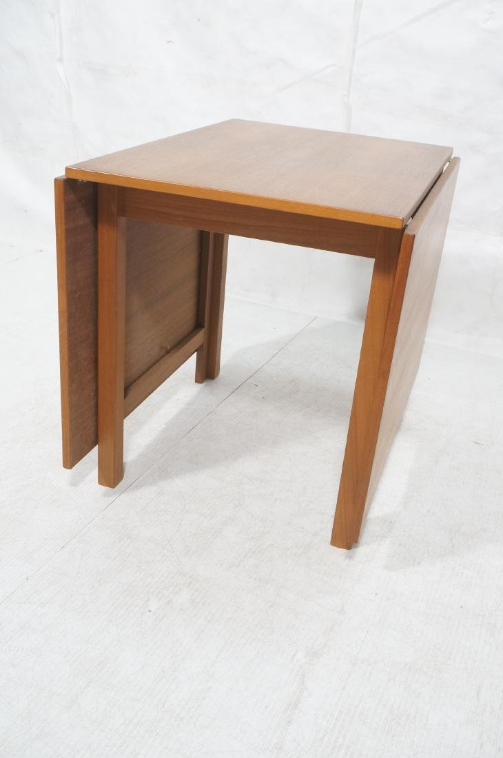 Danish Modern Teak Drop Side Dining Table. Two 25