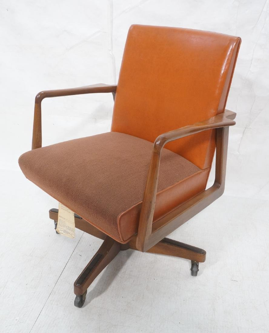 Mid Century Rolling Desk Office Chair. JOHNSON CH