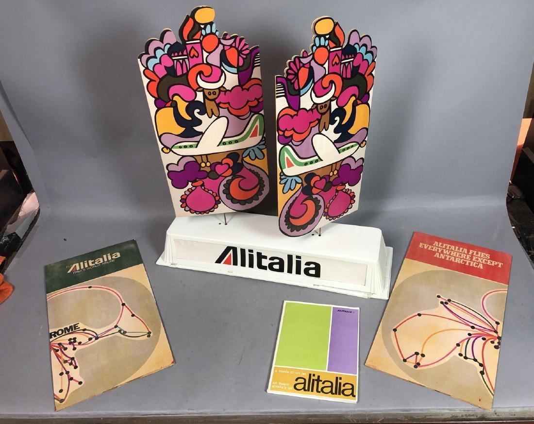 Vintage ALITALIA 4pc Advertising Store Display. A