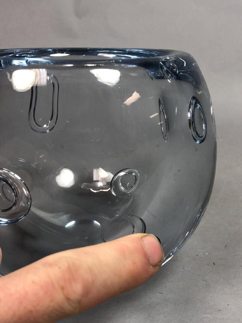 GUNNAR NYLUND Pale Blue Art Glass Bowl. Thick wal - 10