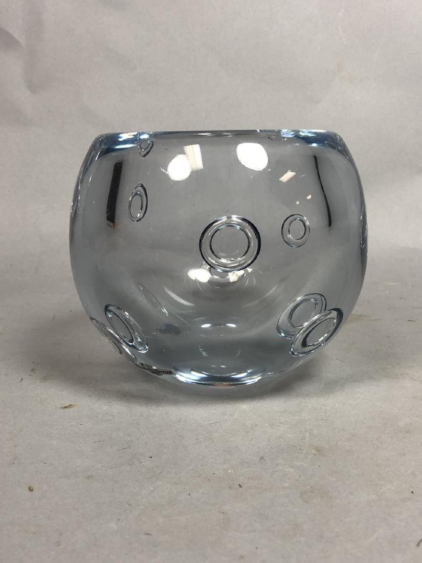GUNNAR NYLUND Pale Blue Art Glass Bowl. Thick wal - 3