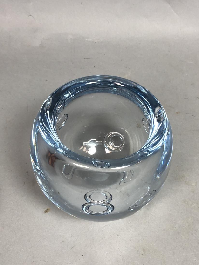 GUNNAR NYLUND Pale Blue Art Glass Bowl. Thick wal - 6