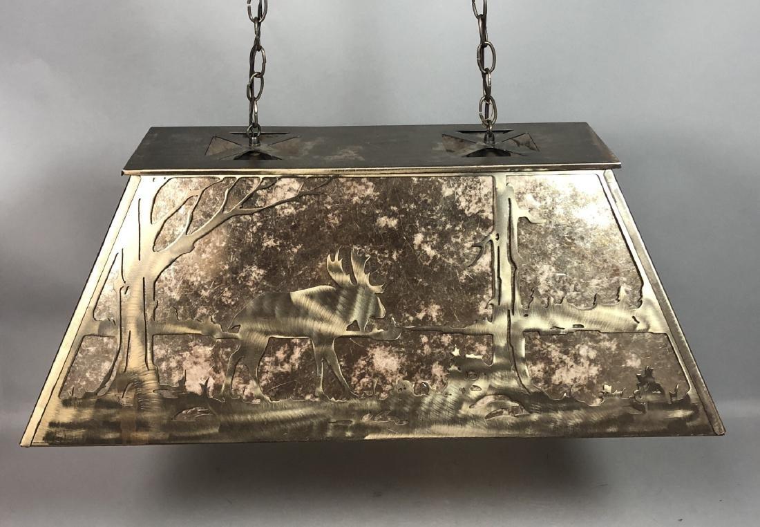 Artisan Metal Silhouette Mica Hanging Lamp. Large