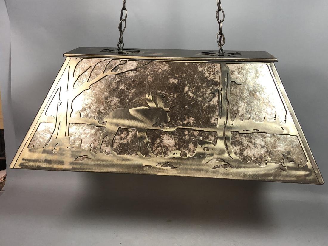 Artisan Metal Silhouette Mica Hanging Lamp. Large - 2