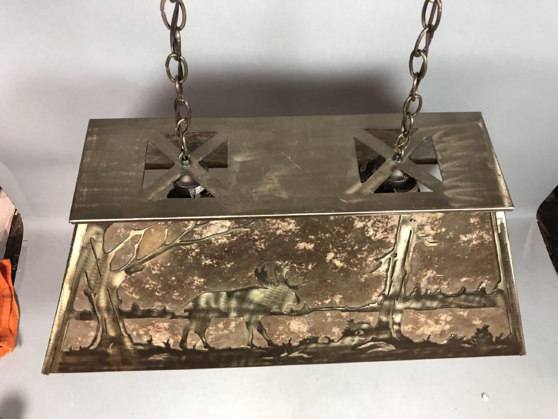 Artisan Metal Silhouette Mica Hanging Lamp. Large - 3