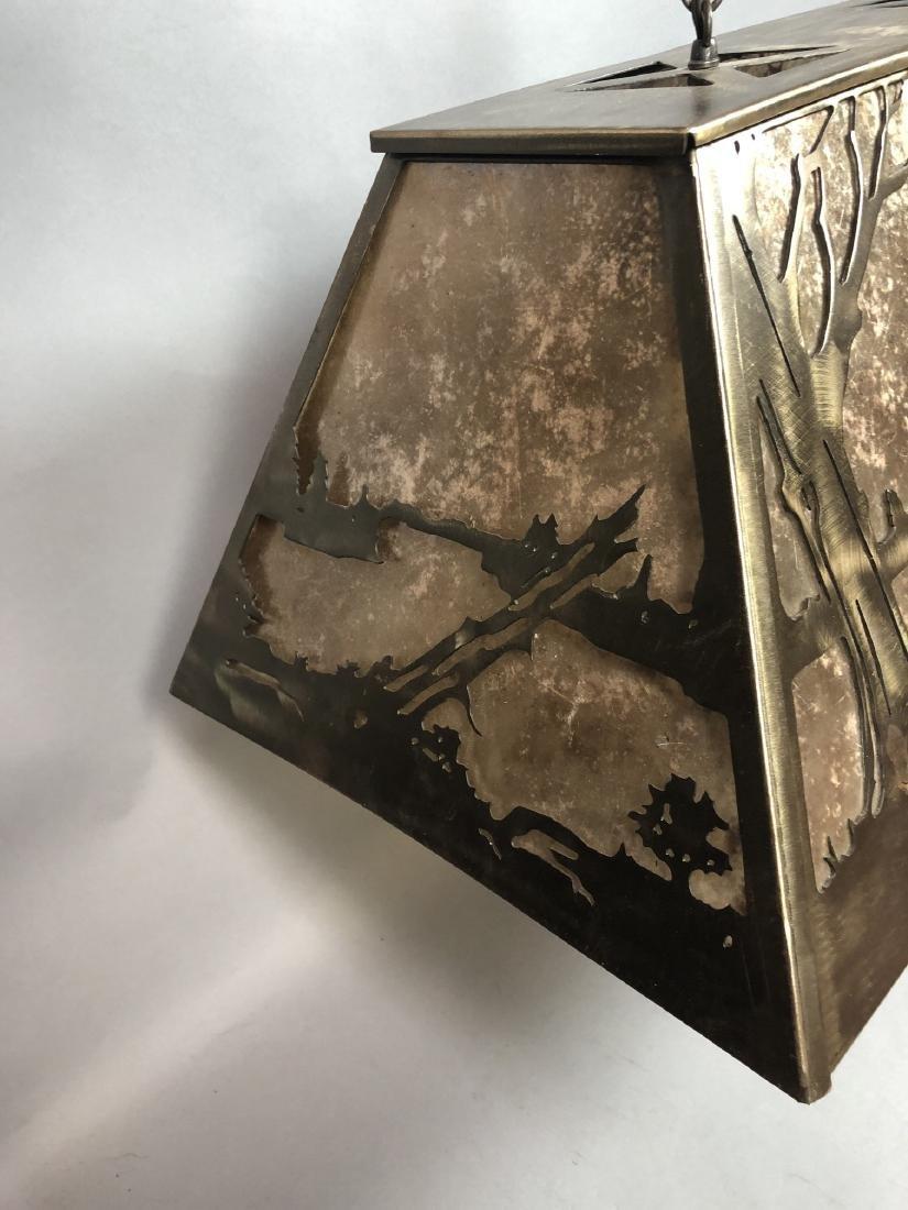 Artisan Metal Silhouette Mica Hanging Lamp. Large - 4