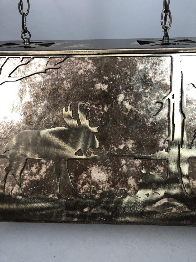 Artisan Metal Silhouette Mica Hanging Lamp. Large - 7