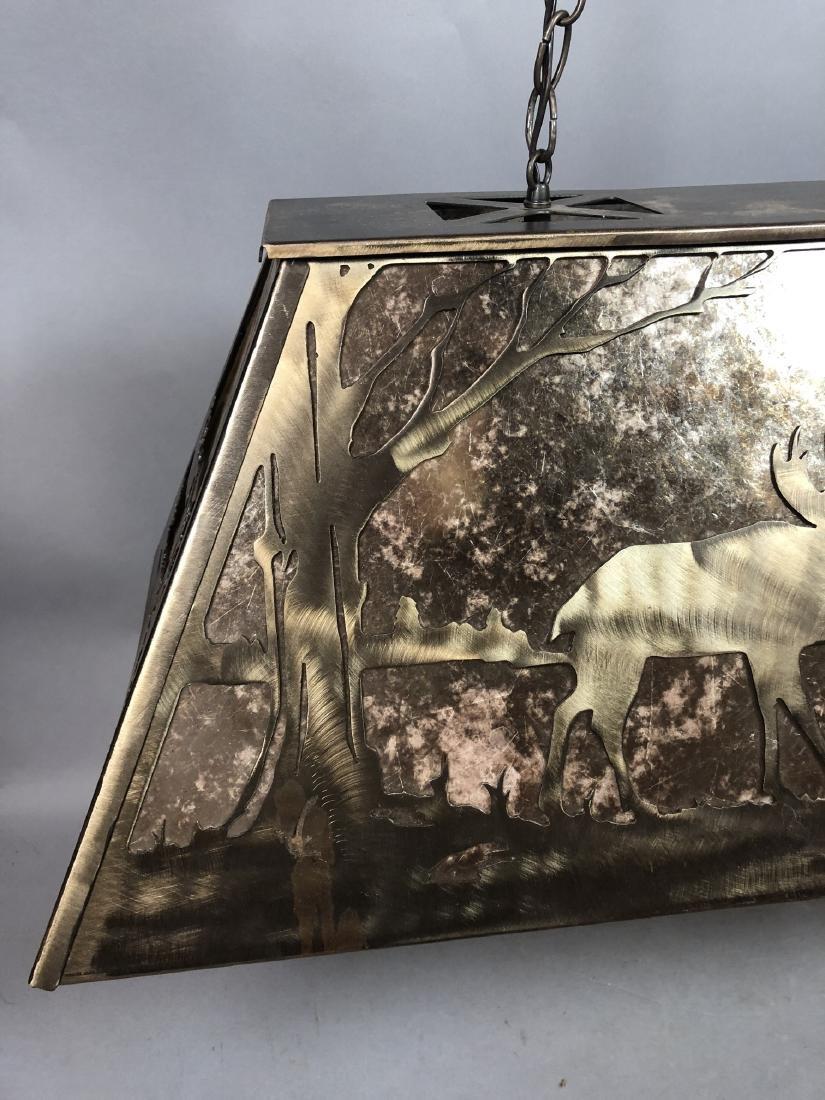 Artisan Metal Silhouette Mica Hanging Lamp. Large - 8
