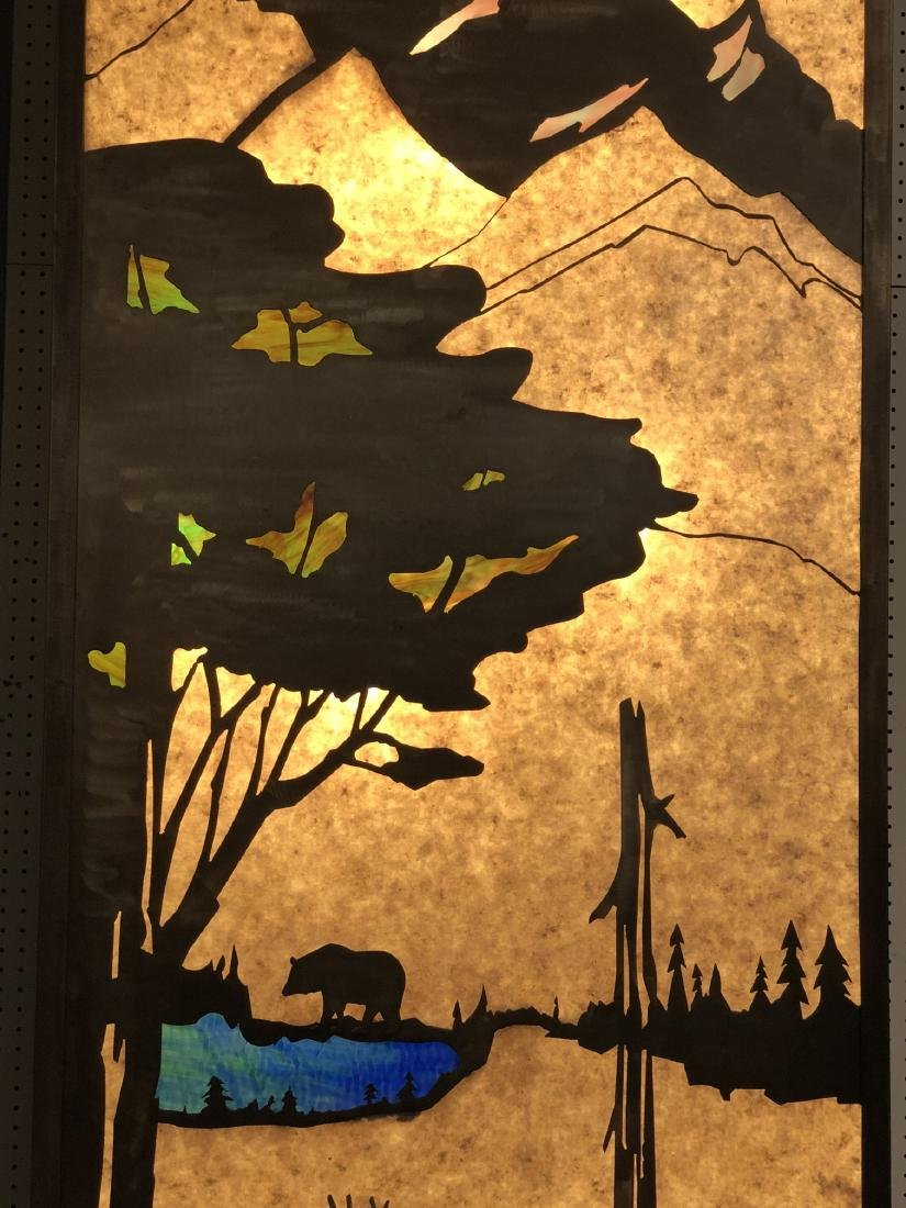 Pr of Light Up Mica Metal Silhouette Light Boxes. - 4