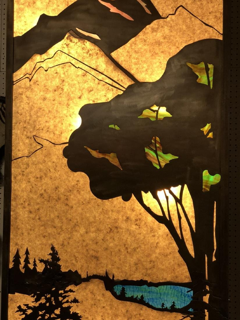 Pr of Light Up Mica Metal Silhouette Light Boxes. - 7