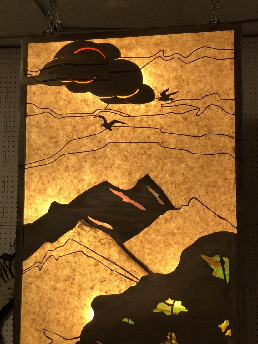 Pr of Light Up Mica Metal Silhouette Light Boxes. - 8