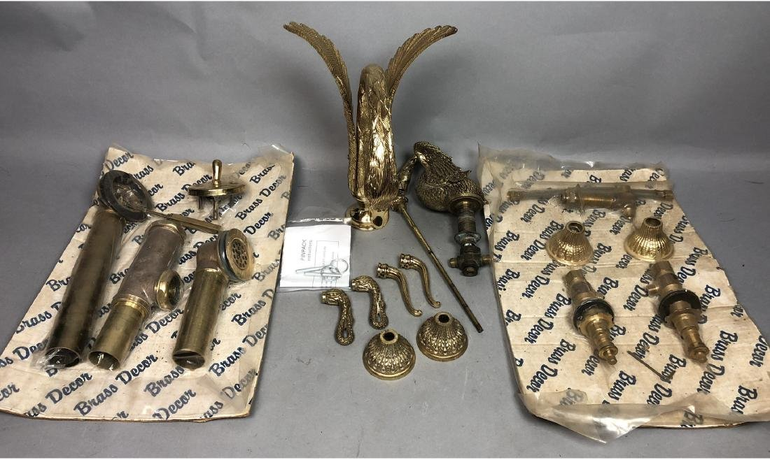 SHERLE WAGNER style Swan Faucet Set. Large winged - 2