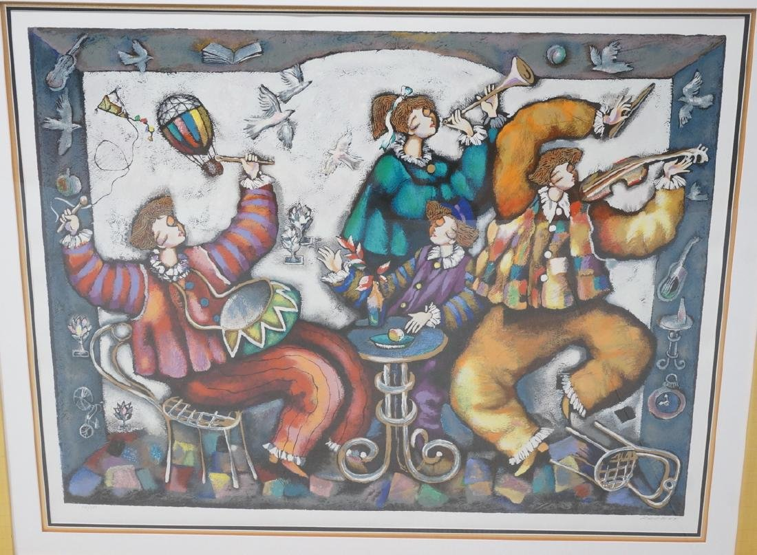 Signed RACKER Graphic Giclee Print Musicians in