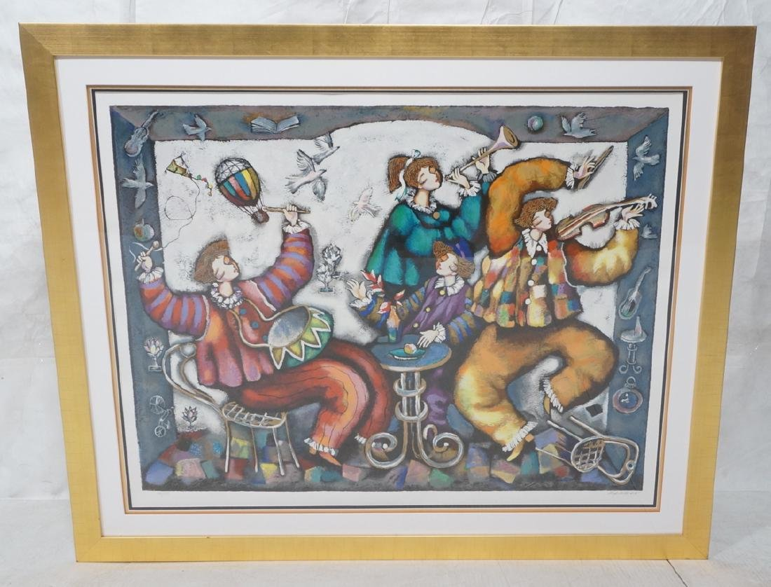 Signed RACKER Graphic Giclee Print Musicians in - 2