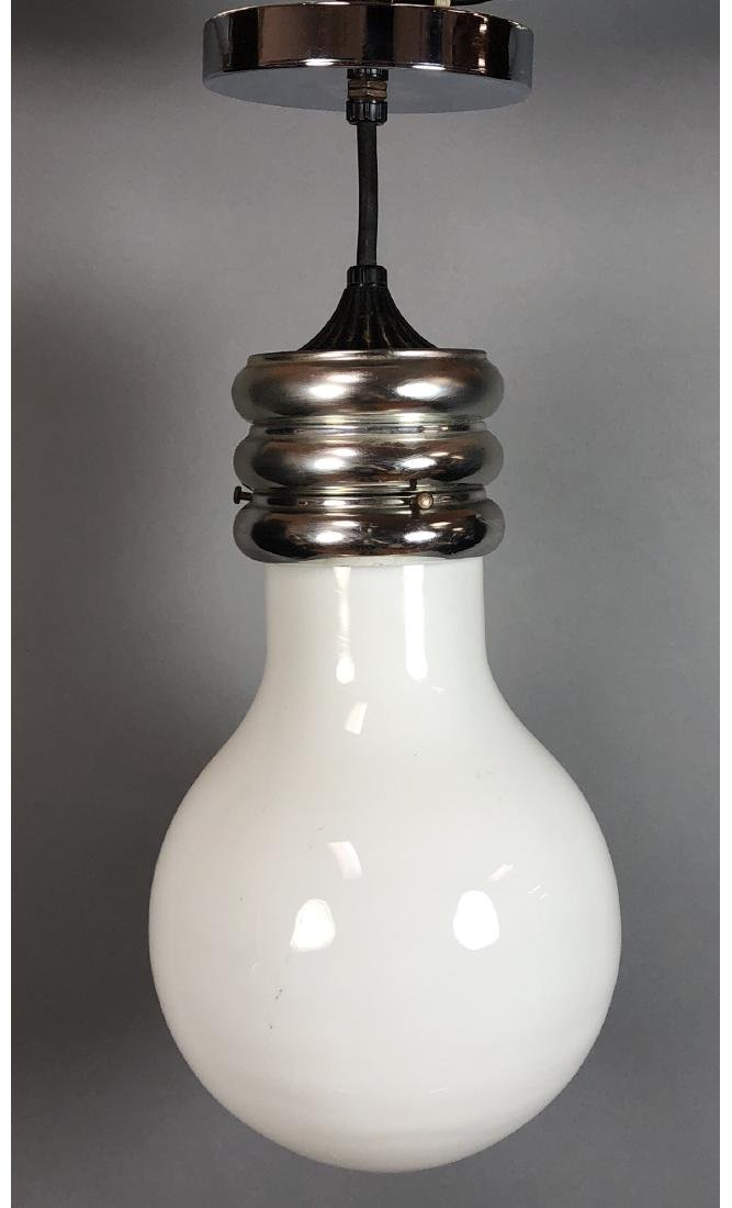 Modernist Large Figural Light Bulb Hanging Pendan