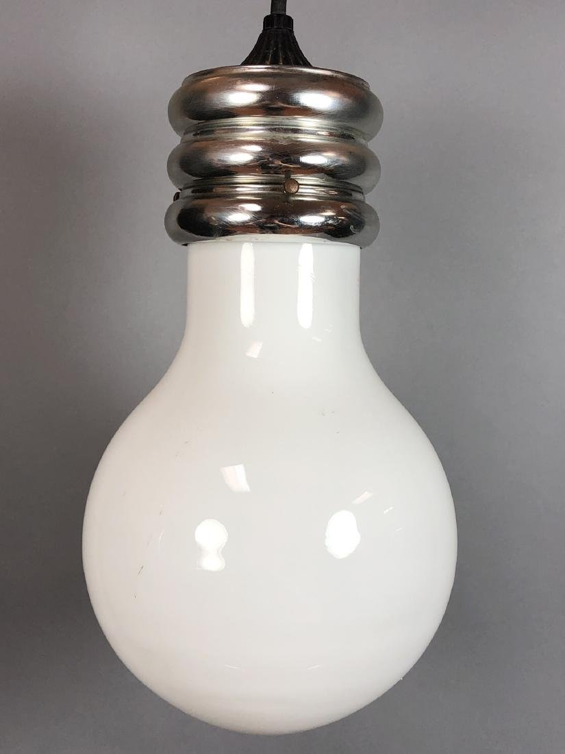 Modernist Large Figural Light Bulb Hanging Pendan - 2