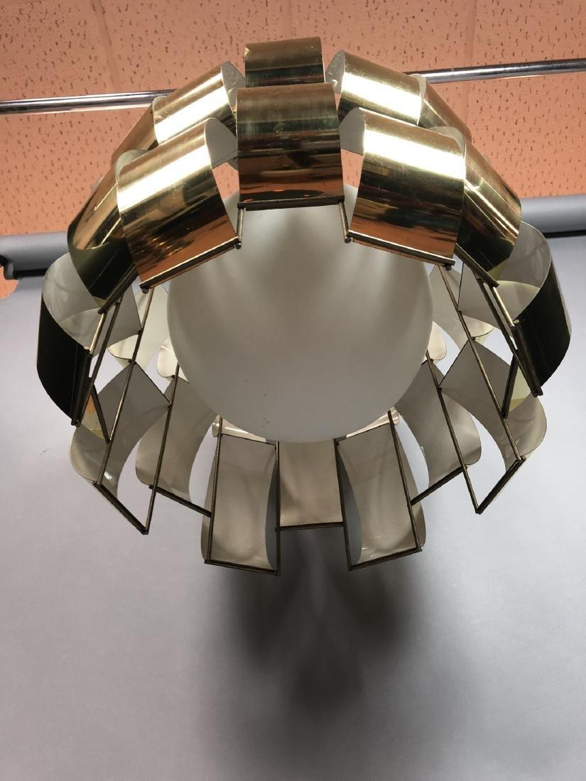 C JERE Style Bowed Brass Panel Modernist Chandeli - 5