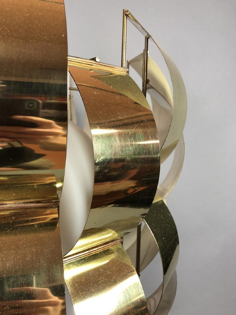 C JERE Style Bowed Brass Panel Modernist Chandeli - 8