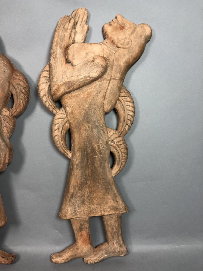 Pr Figural Weinberg Style Pottery Wall Sculpture - 2