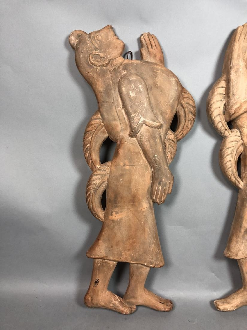 Pr Figural Weinberg Style Pottery Wall Sculpture - 3