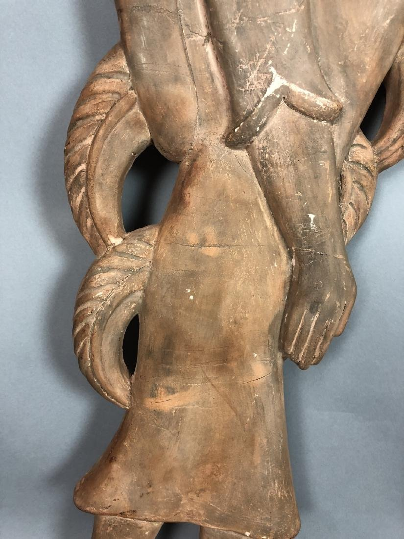 Pr Figural Weinberg Style Pottery Wall Sculpture - 5