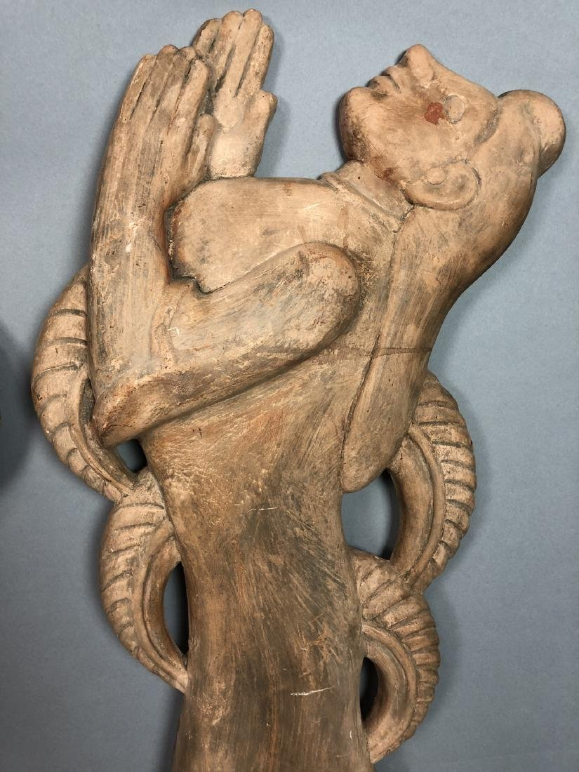 Pr Figural Weinberg Style Pottery Wall Sculpture - 9