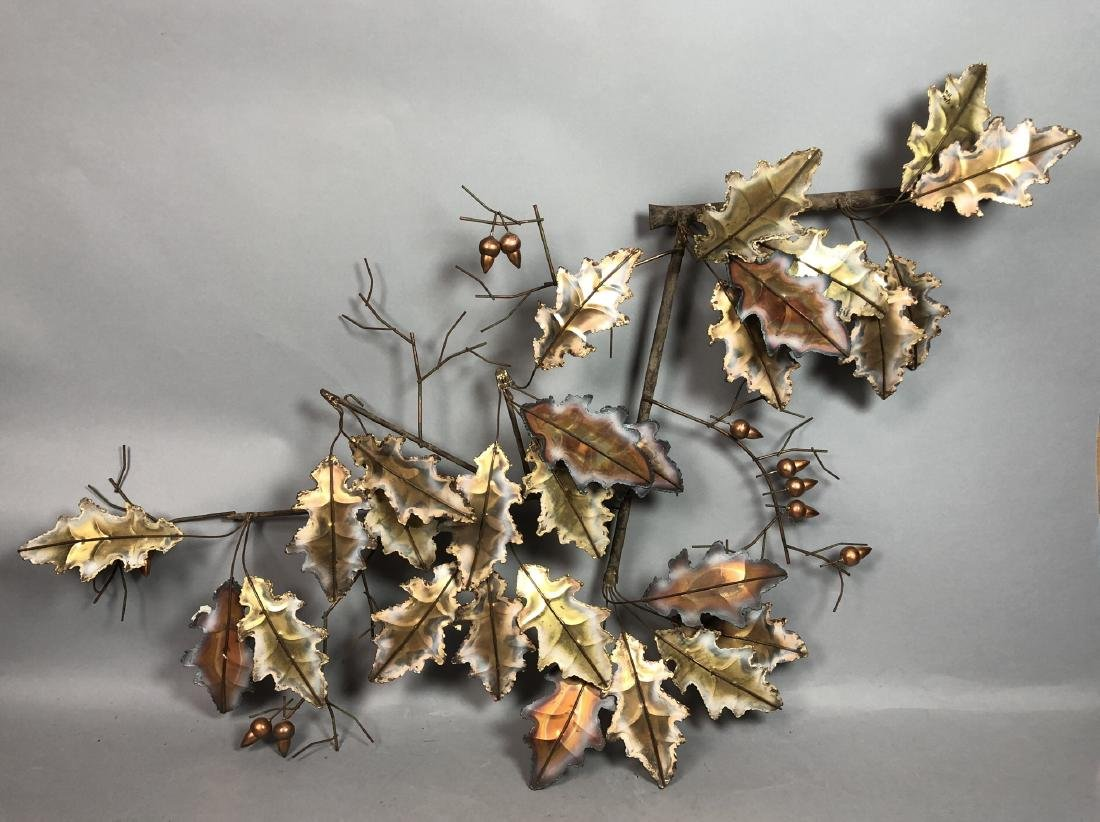 C. JERE 1976 Mixed Metal Welded Oak Leaf & Acorn