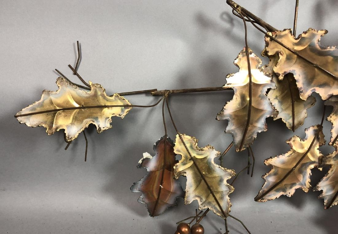 C. JERE 1976 Mixed Metal Welded Oak Leaf & Acorn - 2