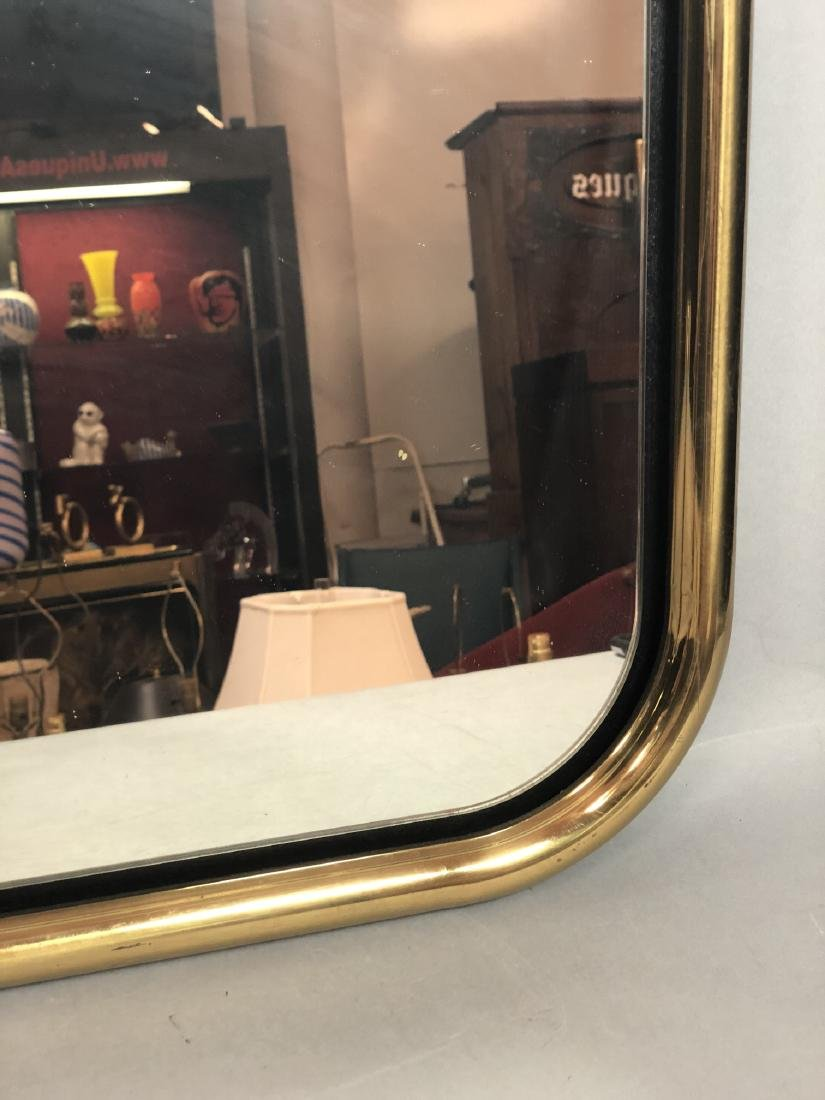 Brass Tube Wall Mirror. Mirrored panel on recesse - 8