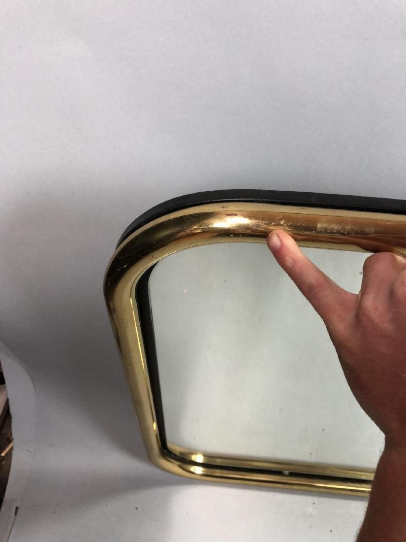 Brass Tube Wall Mirror. Mirrored panel on recesse - 9