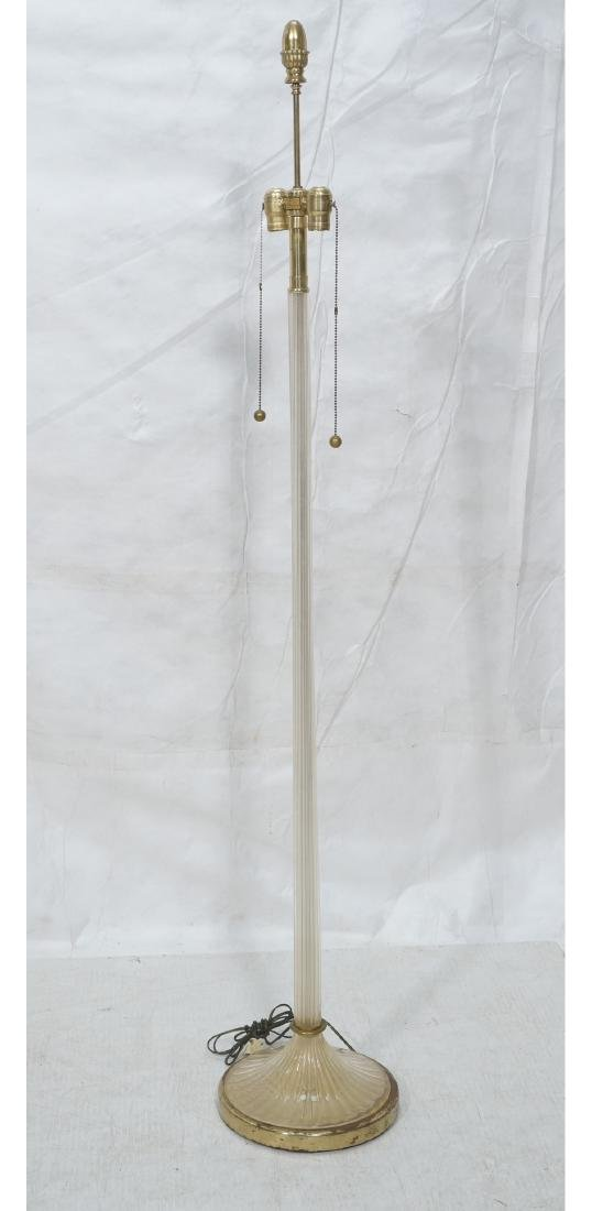 MARBRO Murano Glass Floor Lamp. Swollen ribbed