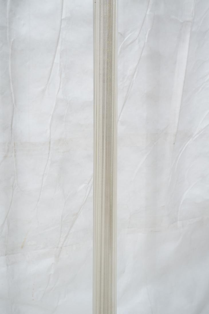 MARBRO Murano Glass Floor Lamp. Swollen ribbed - 4