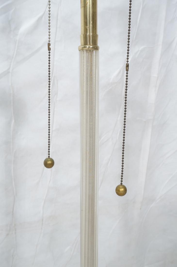 MARBRO Murano Glass Floor Lamp. Swollen ribbed - 5