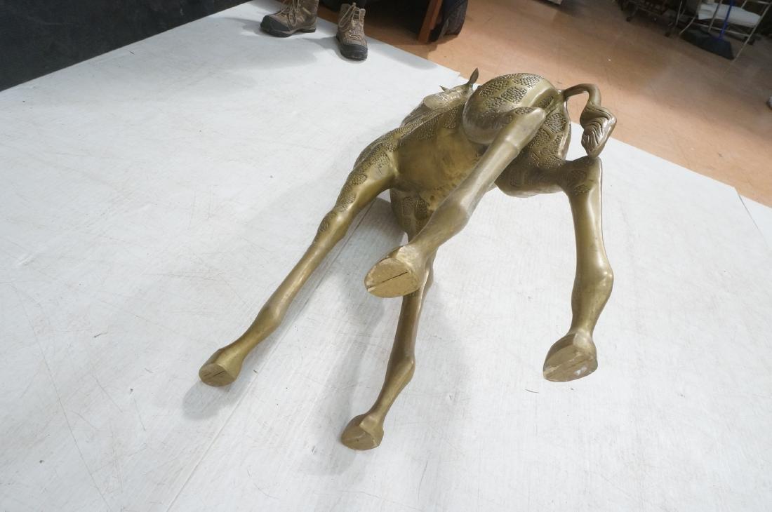 Large Figural Brass Giraffe Floor Sculpture. Text - 10