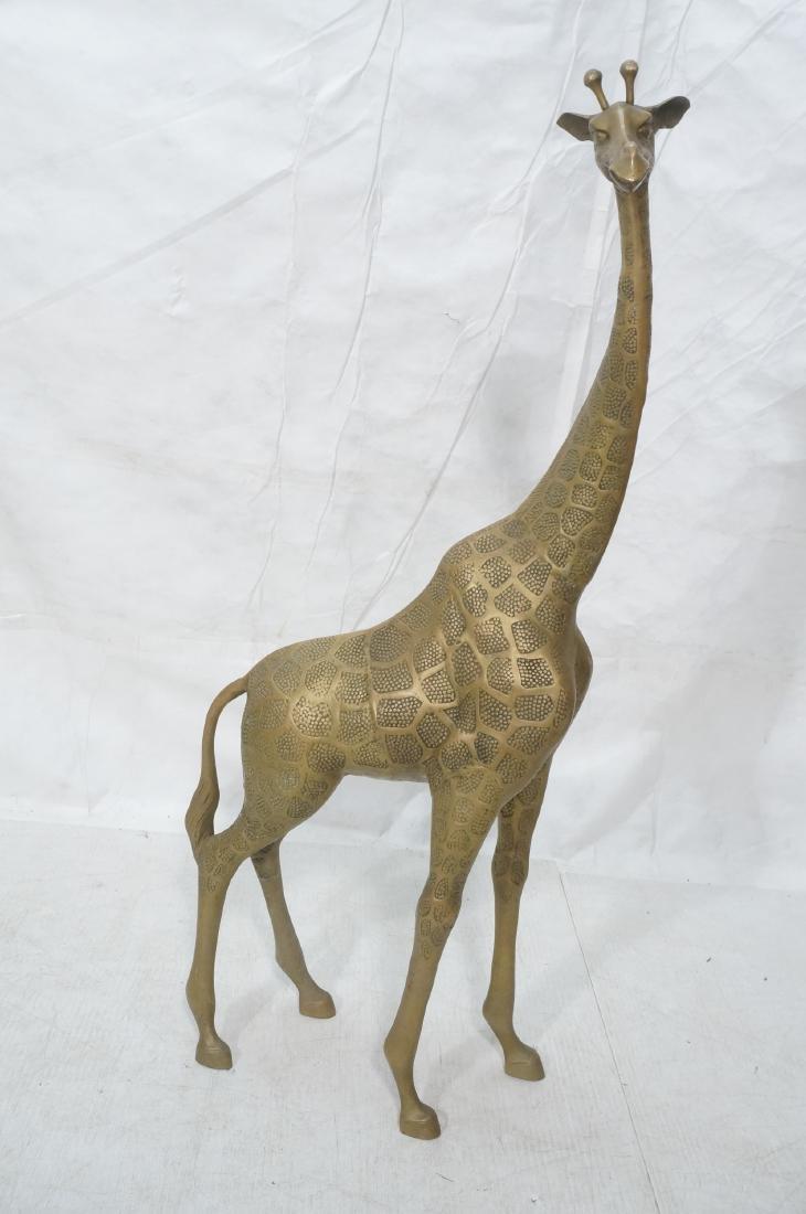 Large Figural Brass Giraffe Floor Sculpture. Text - 2