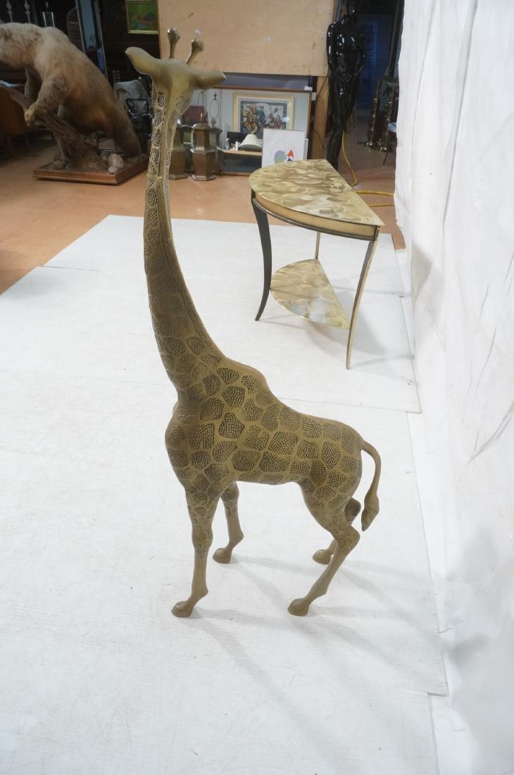 Large Figural Brass Giraffe Floor Sculpture. Text - 4