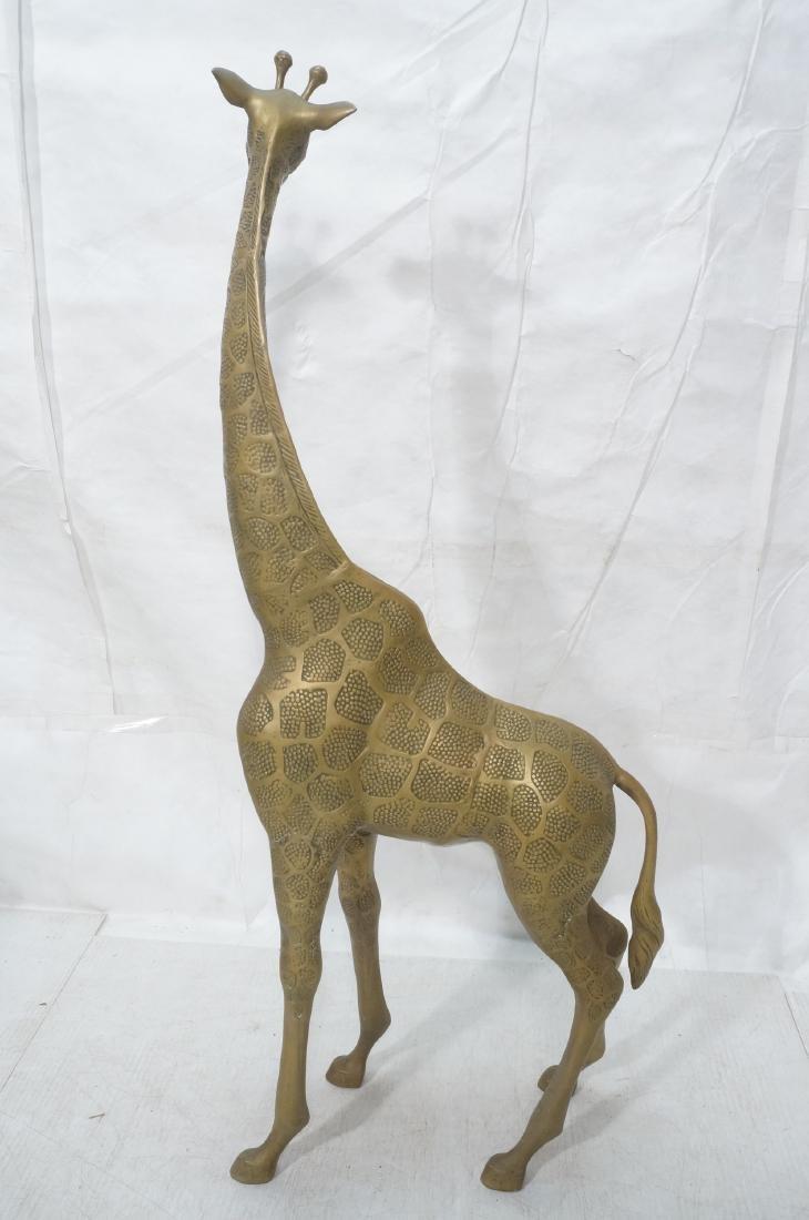 Large Figural Brass Giraffe Floor Sculpture. Text - 5