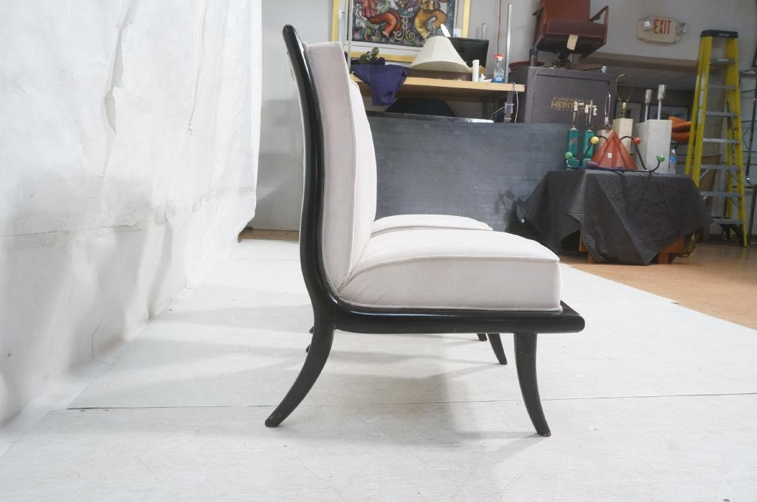 Pr Italian Style Ebonized Modernist Slipper Chair - 3