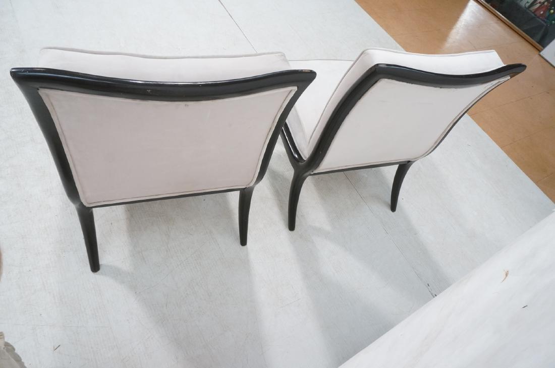 Pr Italian Style Ebonized Modernist Slipper Chair - 4