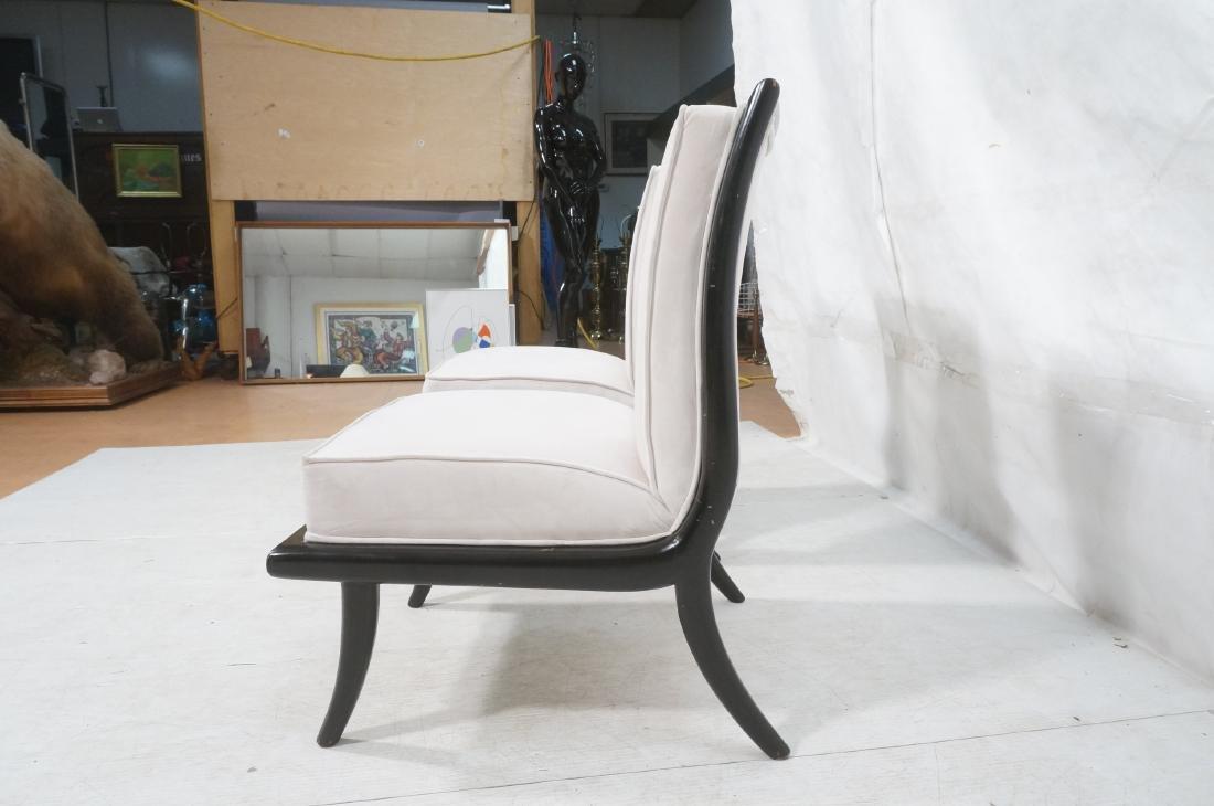 Pr Italian Style Ebonized Modernist Slipper Chair - 5