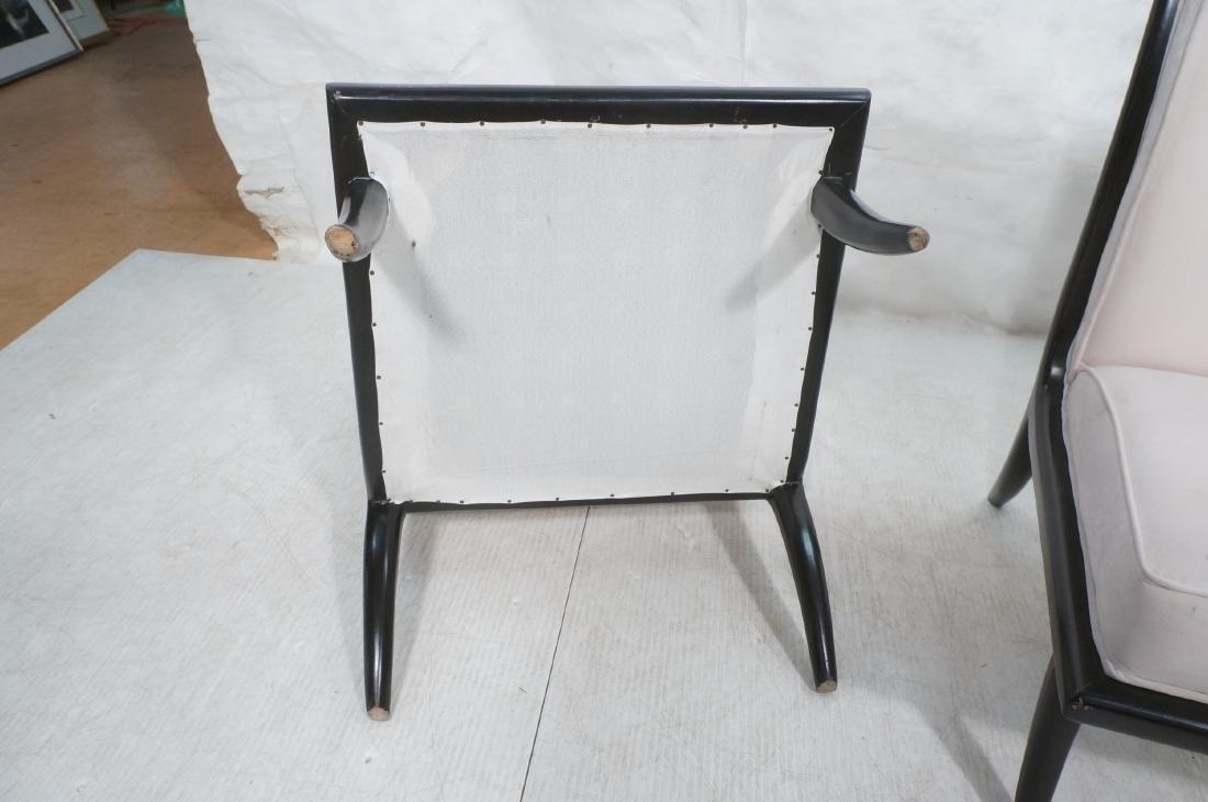 Pr Italian Style Ebonized Modernist Slipper Chair - 9