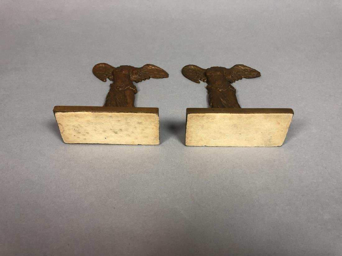Pr 1931 Winged Nike Bronze Bookends. Marked Baile - 3